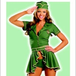 Sexy Army Military Girl Pin Up Costume